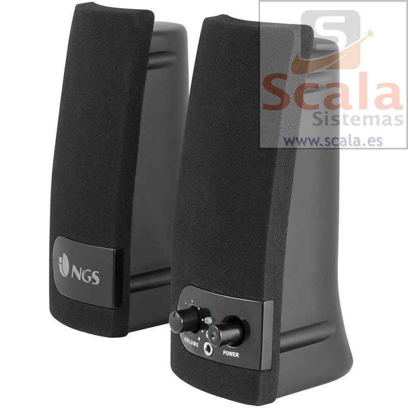 Altavoces 2.0 NGS SoundBand 150 • 200W PMPO • 4W RMS • Conector Auriculares