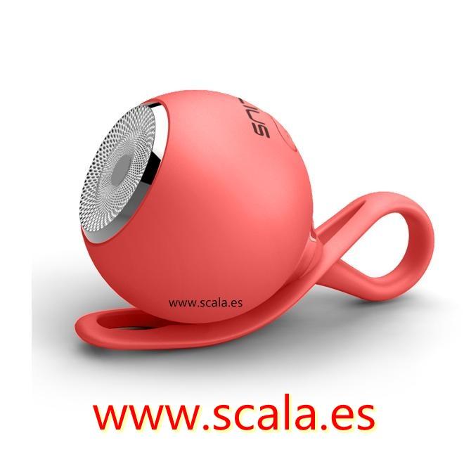 Altavoz Bluetooth Drop Rojo • 3W • Micro USB • MicroSD