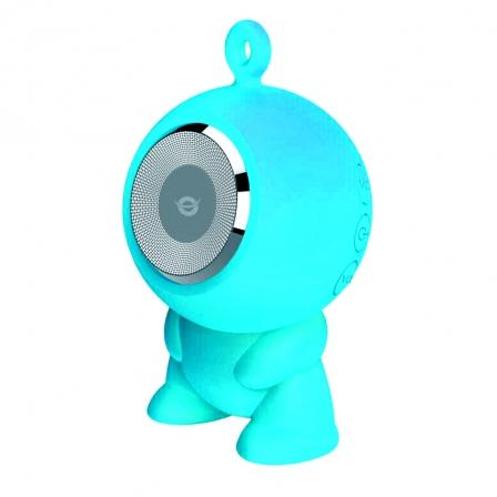 Altavoz Impermeable Inalámbrico Conceptronic CSPKBTWPHFB - Bluetooth 3.0 - 3W - Batería 400mAh - Ranura MicroSD - Color Azul