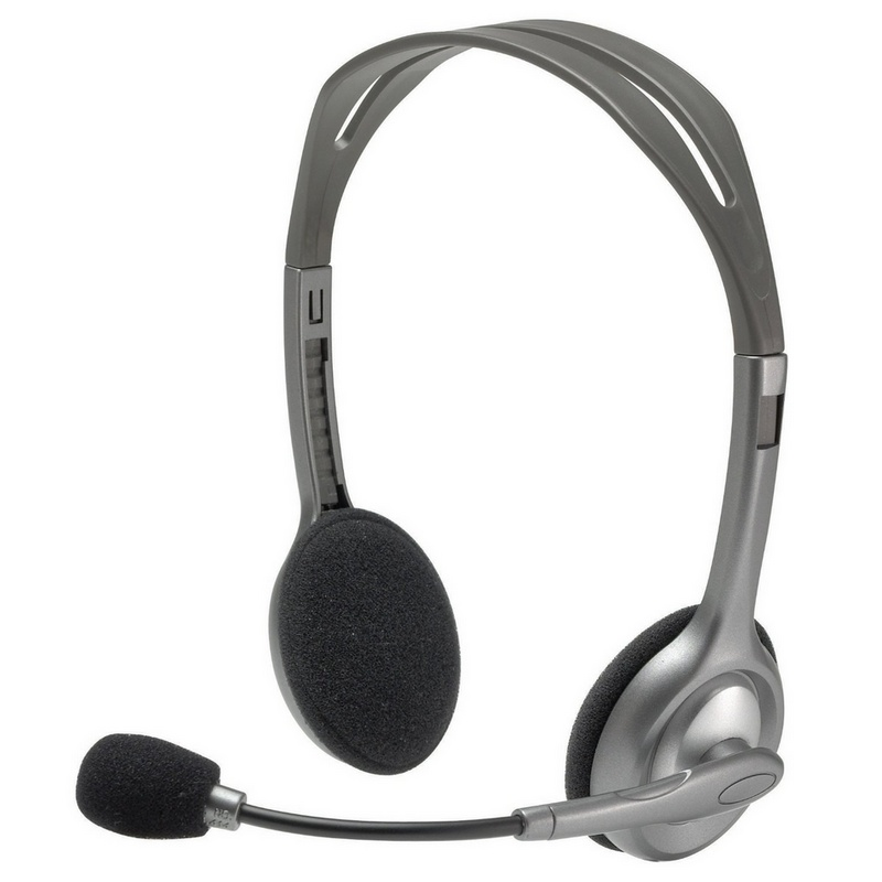 Auricular + Micrófono Logitech Headset H110 • Clavijas de 3.5mm • Sonido Estereo • 981-000271