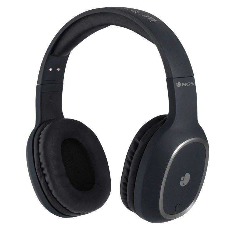 Auriculares Bluetooth NGS Ártica Pride Black - Alcance Hasta 10M - Micrófono - Diadema Ajustable - Batería 180 mAh