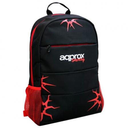 "Mochila Gaming Approx appGBP01 • Hasta 15.6"" • Asas Ajustables • Negro / Rojo • Nylon"
