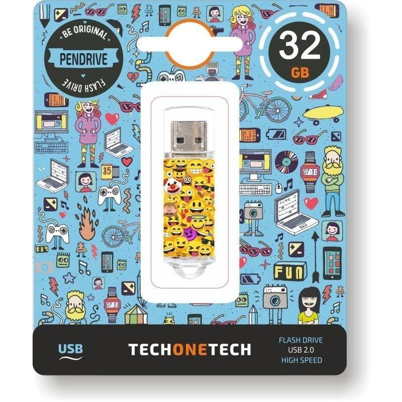 Pendrive Tech One Tech - Emojis - 32GB - USB 2.0 - TEC4501-32