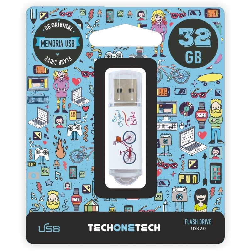 Pendrive Tech One Tech • Be Bike • 32GB • USB 2.0 • TEC4005-32