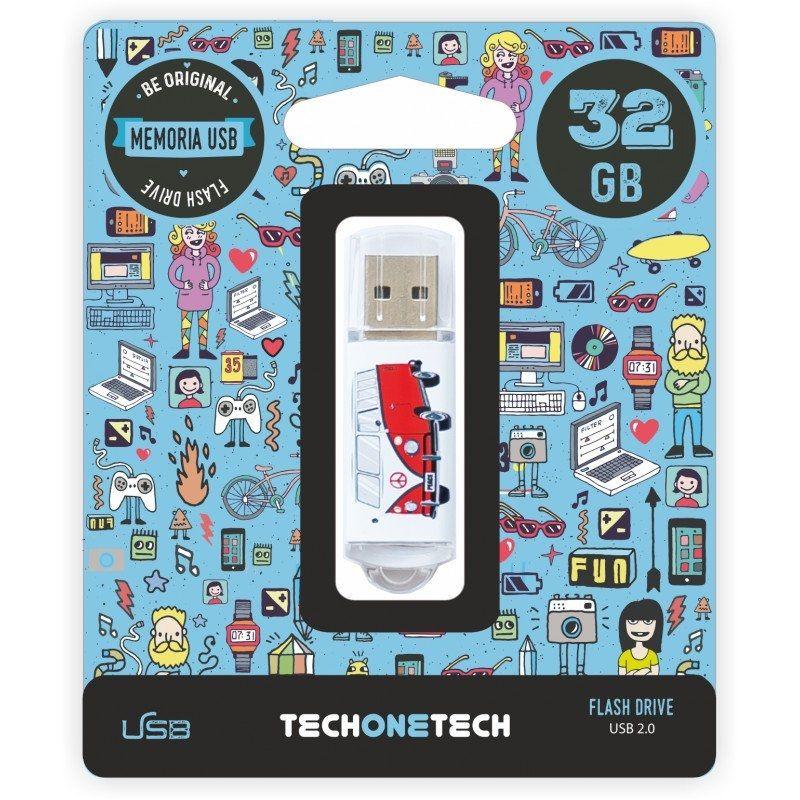 Pendrive Tech One Tech • Camper Van-Van • 32GB • USB 2.0 • TEC4004-32