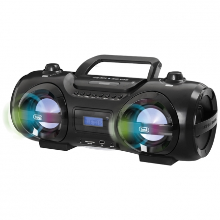 Radio CD Trevi CMP 850 BT BOOMBOX MUSIC BLASTER Negro • 25W • 2 Altavoces + 2 Woofer • CD/MP3 • BT • FM • USB / SD/ AUX-IN
