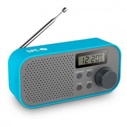 Radio SPC FROSTY • AM/FM • Pantalla LCD • Antena Telescópica • 2x AA