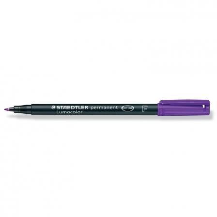Rotulador Permanente Punta F 0.6mm • Lumocolor Superfino • 318 • Violeta • Staedtler